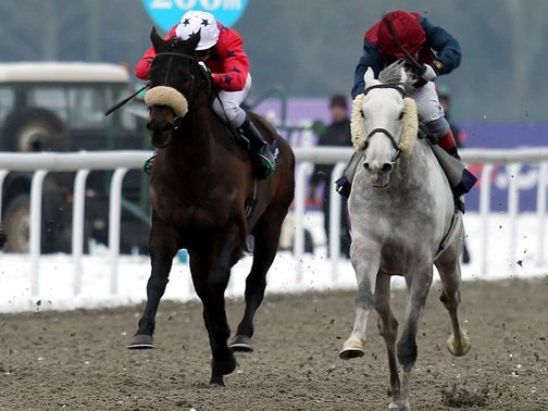 Spifer (right) just gets up under Andrea Atzeni