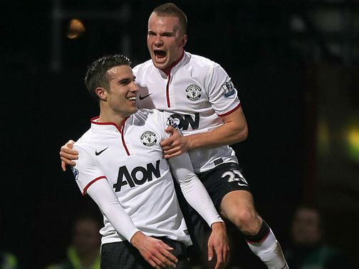 Robin van Persie scored United&#39;s equaliser