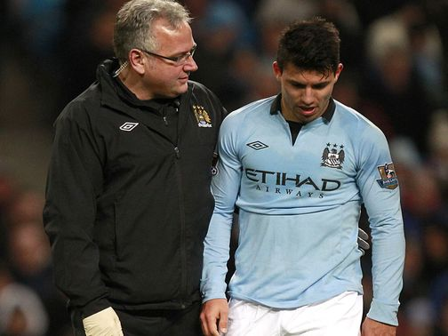 Aguero: Forced off in victory against Stoke