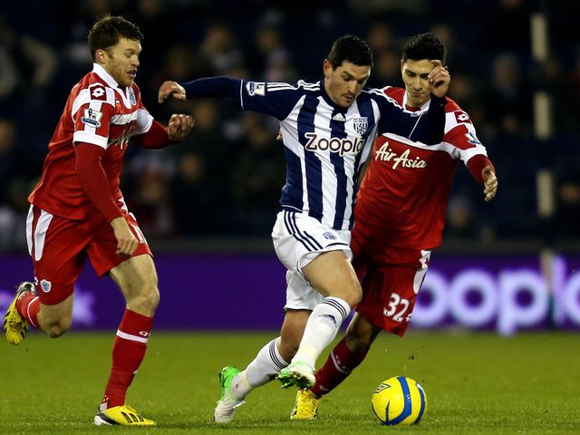 Graham Dorrans in action for West Brom
