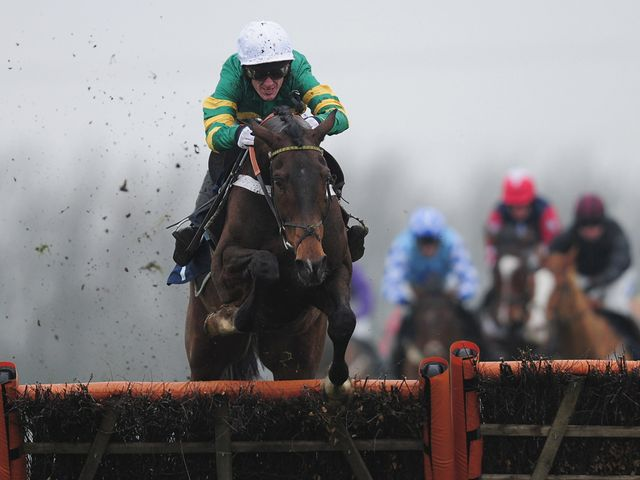 My Tent Or Yours clears the last under Tony McCoy...