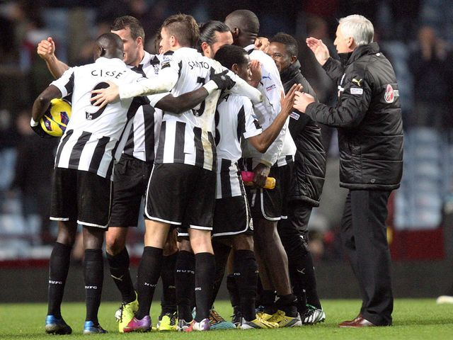 Newcastle celebrate a huge away victory