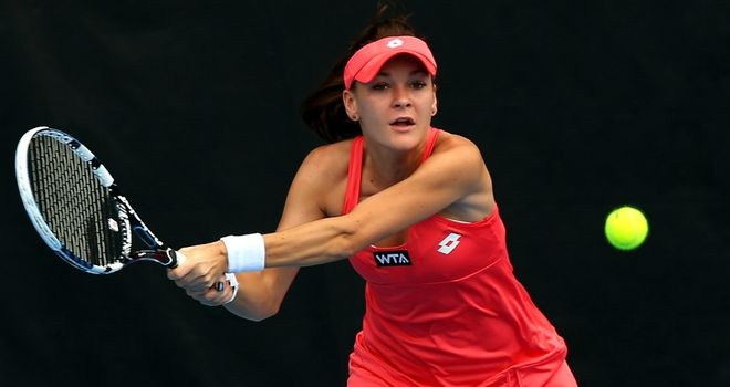 Agnieszka Radwanska: prevailed in two tie-breaks against Jamie Hampton