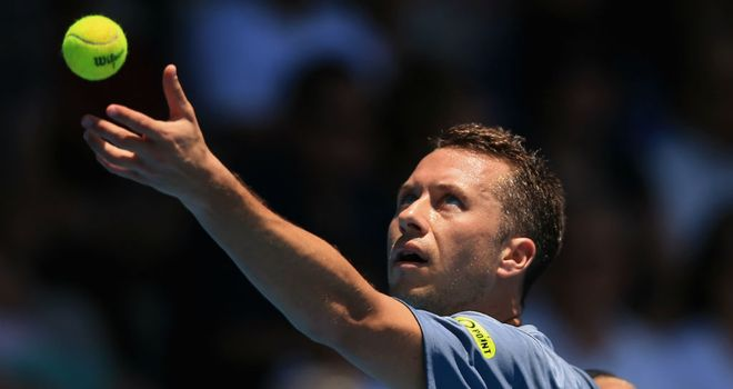 Philipp Kohlschreiber: Survived a second-set wobble