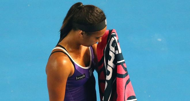 Heather Watson: Lost in three sets to Anastasija Sevastova