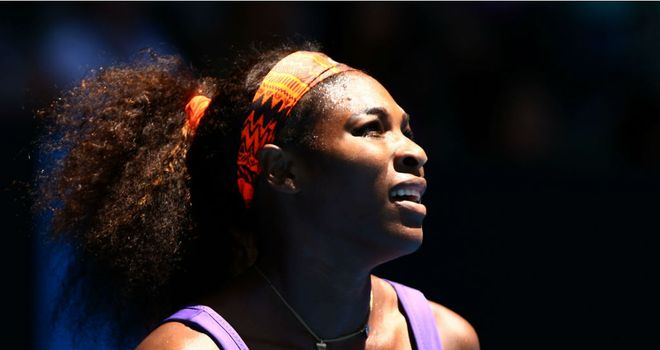 Serena Williams: Back seized up during second set
