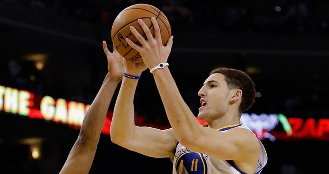 Klay Thompson: Scored a career-best 32 points