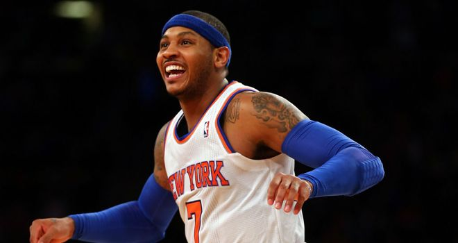 Carmelo Anthony: Scored 42 points against the Atlanta Hawks