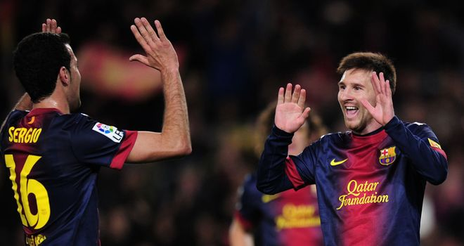 Messi celebrates against Espanyol