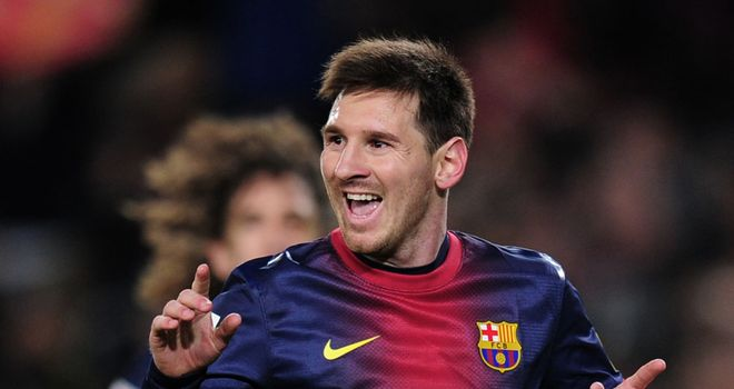 Lionel Messi: On target again for Barcelona