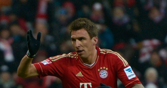 Mario Mandzukic scored two goals for Bayern