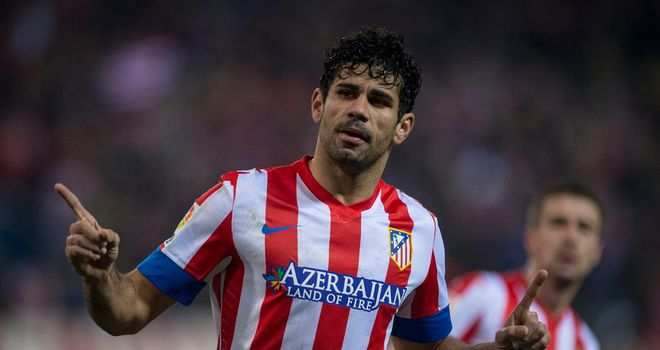 Diego da Silva Costa celebrates for Atletico Madrid