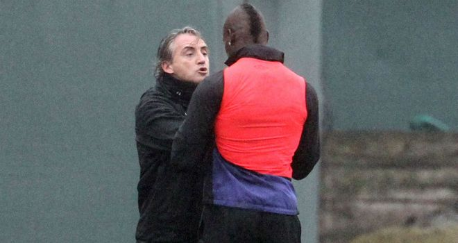 Roberto Mancini: Played down his bust-up with Mario Balotelli