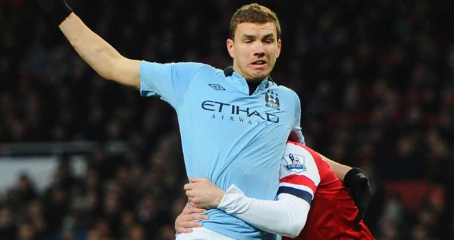 Edin Dzeko: Has started just seven matches in all competitions in 2013