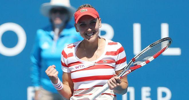 Unseeded Russian Elena Vesnina beat Sloane Stephens 6-2 6-2 on Friday