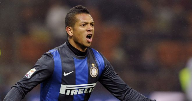 Fredy Guarin: At the double for Inter