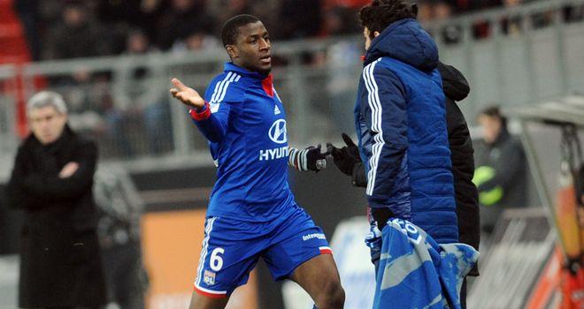 Gueida Fofana celebrates his opener for Lyon