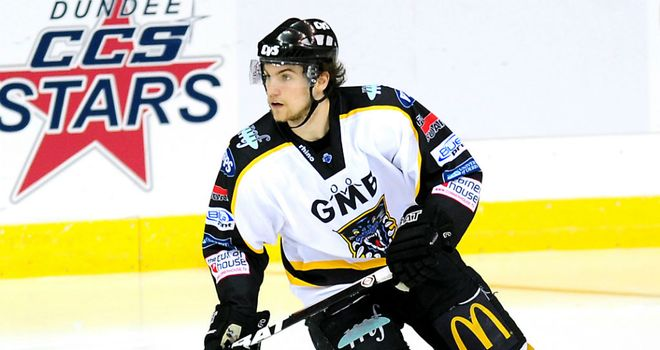 Guillaume Lepine in action for Nottingham Panthers