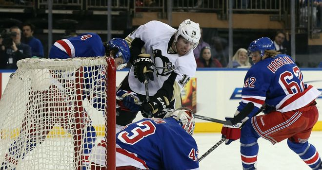 James Neal: In action for the Pittsburgh Penguins against the New York Rangers