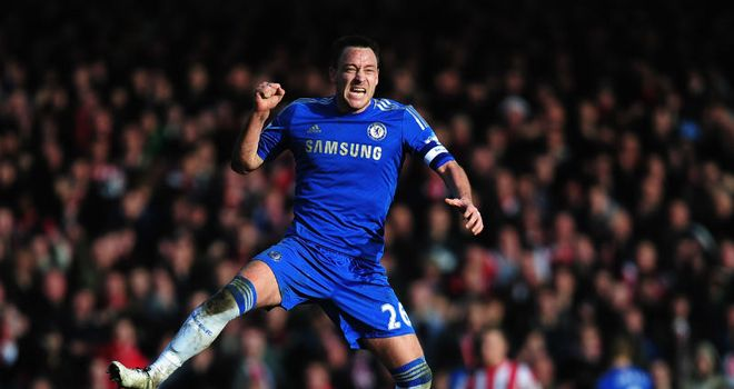 John Terry: Leaping back into action against Brentford