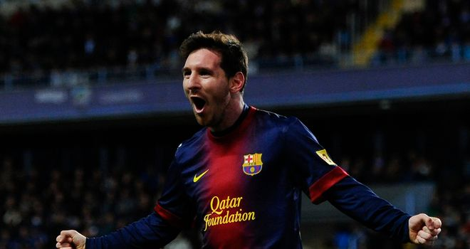 Lionel Messi: Netted four times as Barcelona overcame Osasuna