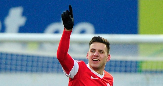 Adam Szalai scored two goals for Mainz