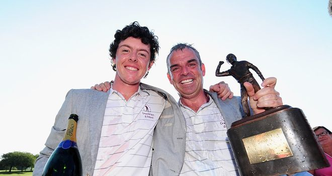 Rory McIlroy: Wants McGinley as Europe skipper