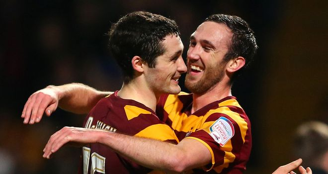 Rory McArdle: Scored the second of Bradford&#39;s goals in their 3-1 win over Aston Villa on Tuesday