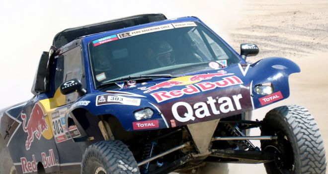 Carlos Sainz: won the opening 13km special stage between Lima and Pisco