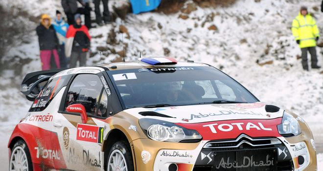 Sebastien Loeb: In control of the Monte Carlo Rally after second day
