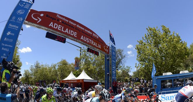 The first stage of the Santos Tour Down Under could be cancelled