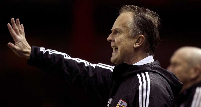 Sean O'Driscoll: Satisfied with Bristol City's performance at Selhurst Park.