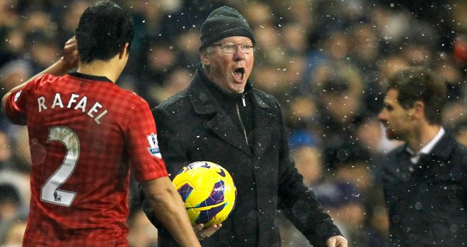 Sir Alex Ferguson: Angered by penalty decision at Tottenham on Sunday
