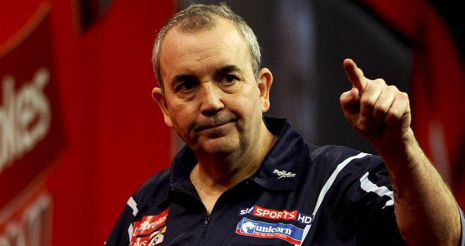 Phil Taylor: Ground out a 7-3 victory over Adrian Lewis in Aberdeen