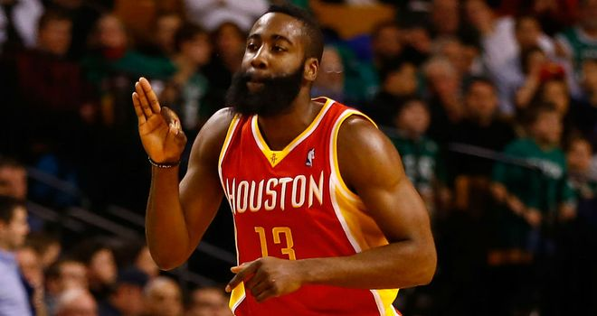James Harden: sat out all of the fourth quarter as Houston thrashed Utah