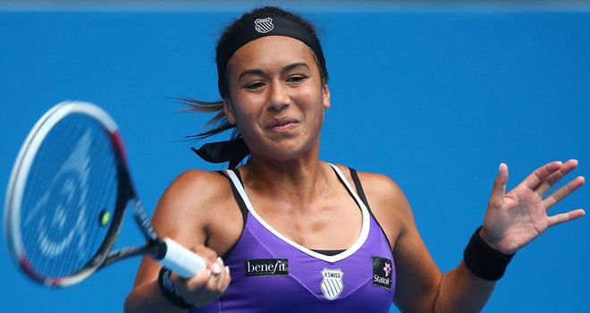 Heather Watson: through in three sets for the second successive match in Memphis