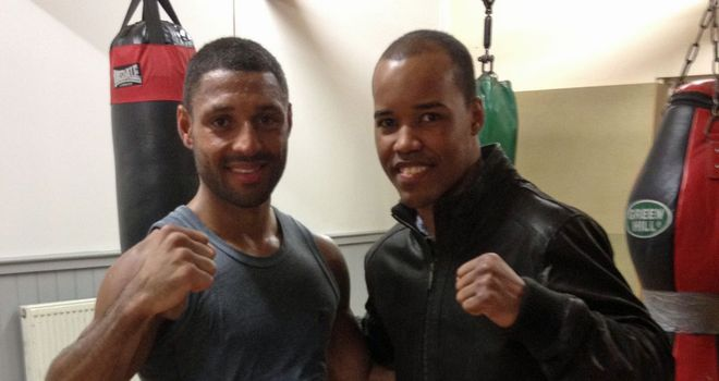 Argenis Mendez (r) with Kell Brook. Mendez trained in the UK for his fight with Salgado