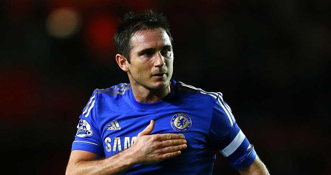 Frank Lampard: Chelsea midfielder celebrates his landmark goal at Southampton