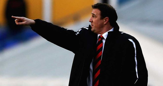 Malky Mackay: Takes his high-flying Bluebirds to Blackpool