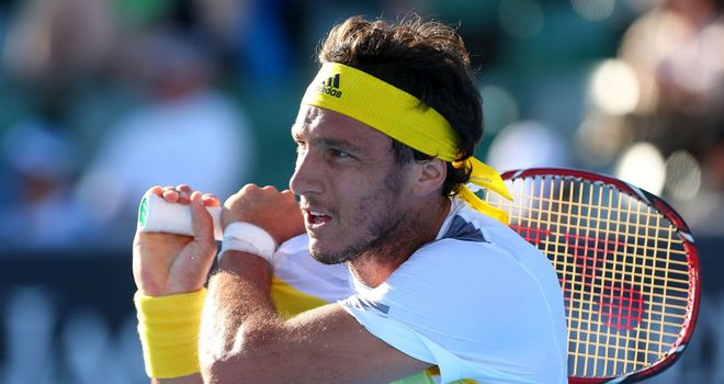 Juan Monaco: Won in straight sets