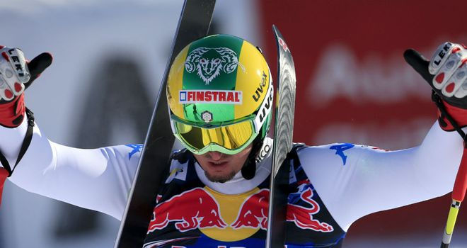 Dominik Paris: claimed his second World Cup victory of the season in Austria