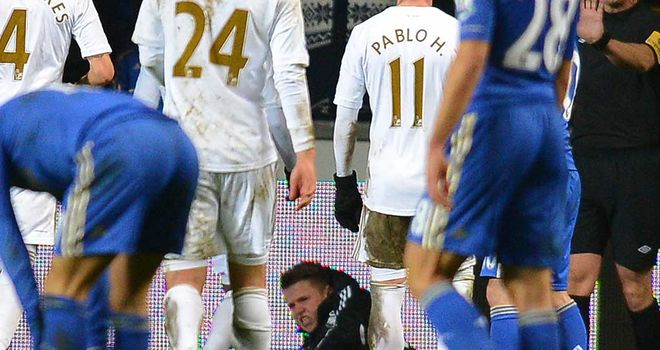 Ballboy: Lies in pain after clash with Eden Hazard