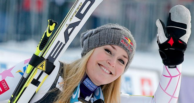 Lindsey Vonn: the American had been third after her first run in Slovenia