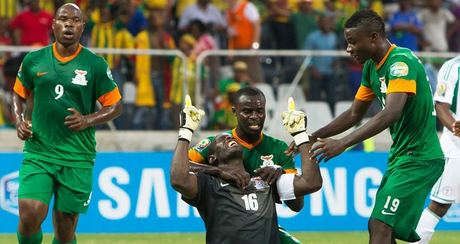 Kennedy Mweene: Scored from the spot to rescue Zambia