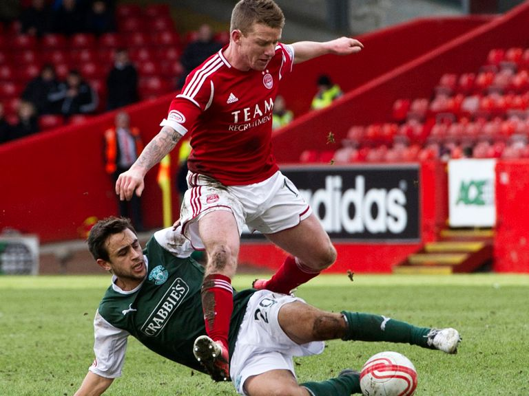 Hibs and Aberdeen fought out a goalless draw