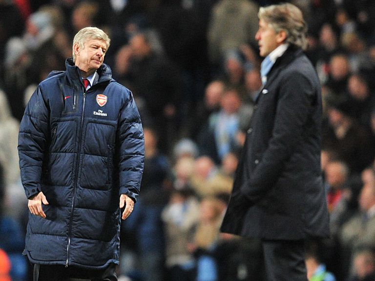 Wenger came off second best to Mancini