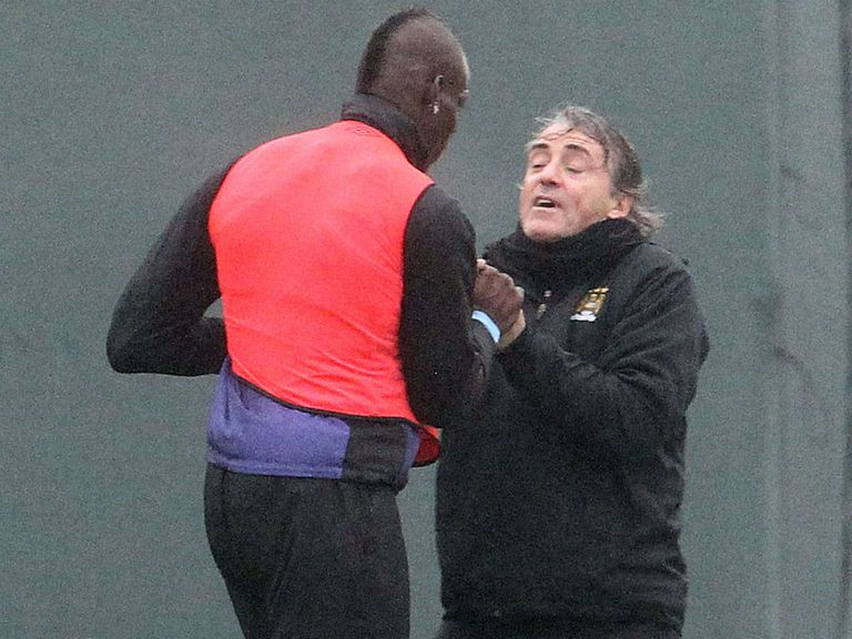 Balotelli and Mancini clash during training