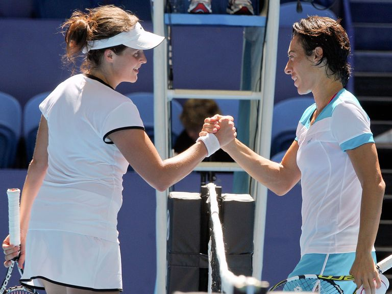 Francesca Schiavone (r): Helped Italy secure victory