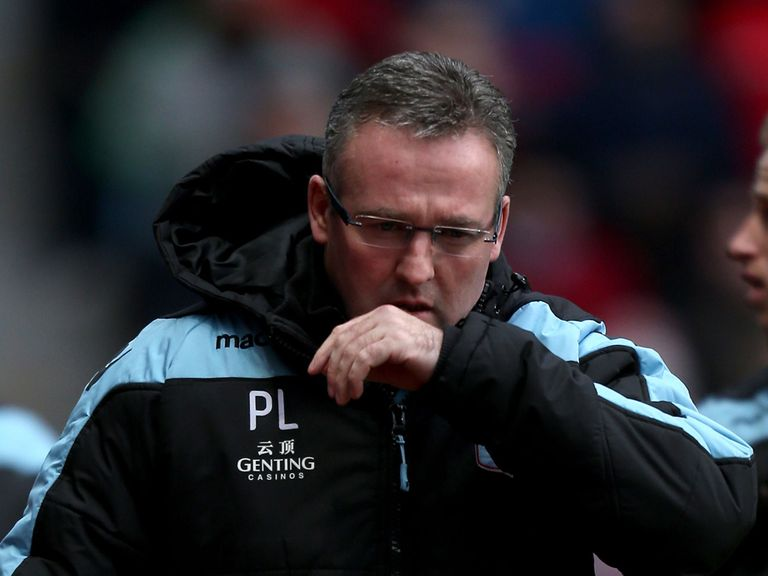 Paul Lambert: Appreciates the supprt he has had