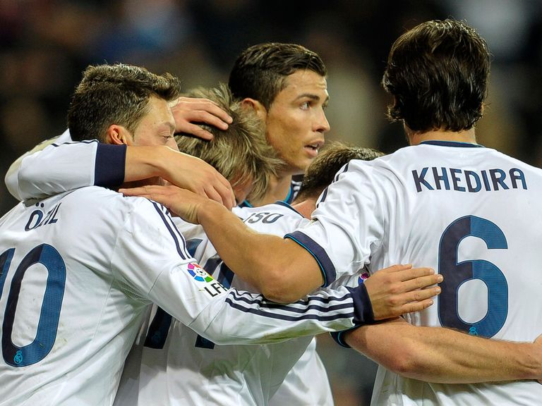 First leg celebrations for Real Madrid